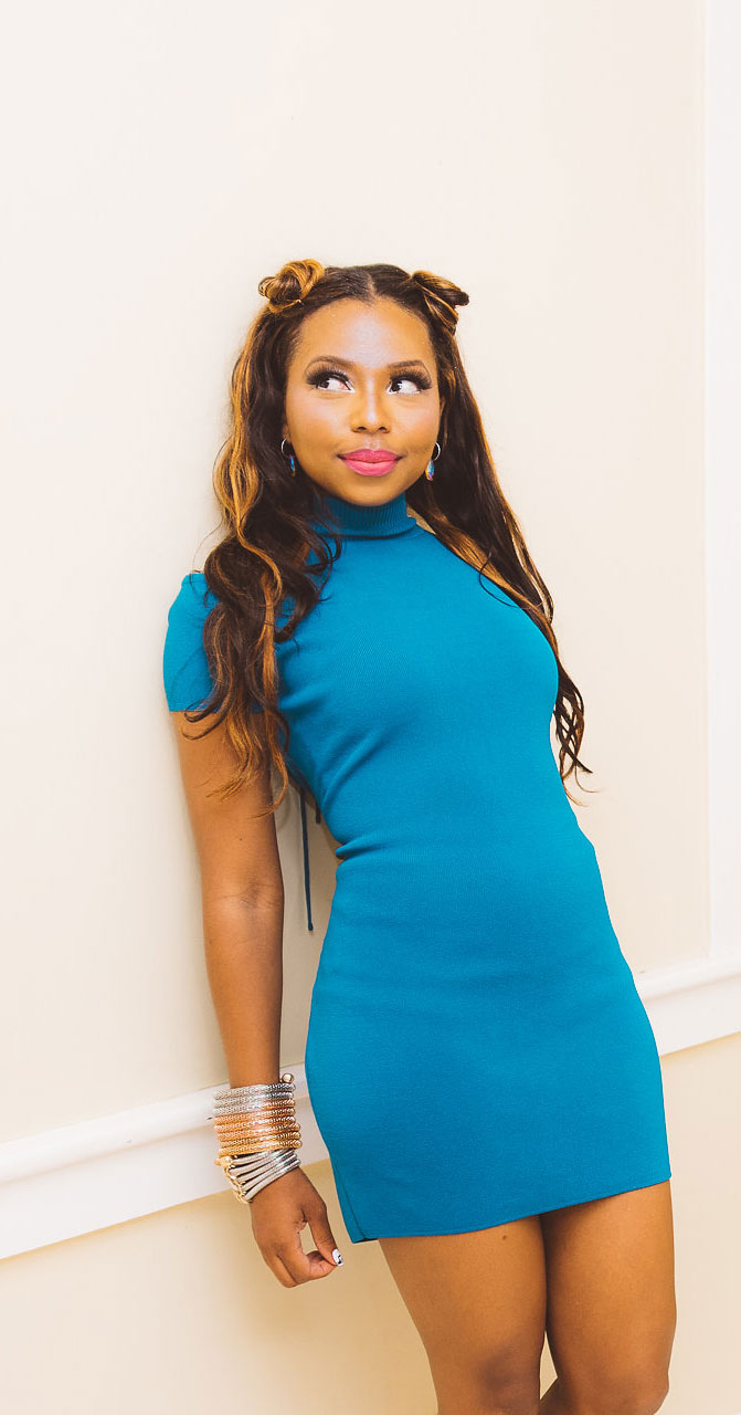 cherise ransome blue dress about